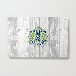 folk flowers Metal Print