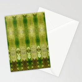 """Green diamonds pattern"" Stationery Cards"