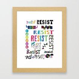 Resist them 3 Framed Art Print