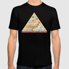 ron swanson's pyramid of greatness X-LARGE Black Mens Fitted Tee