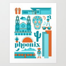 Phoenix in Turqoise Art Print