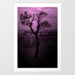 Purple Chasm Art Print