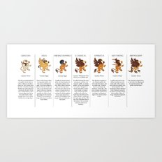 Griffin Variations Art Print