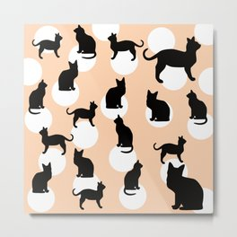 Bubble Cats (Peach) Metal Print