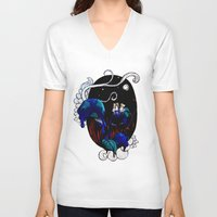 alice wonderland V-neck T-shirts featuring Wonderland by deebaucheryy