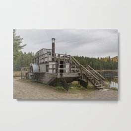 Alligator Boat Metal Print