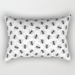 Honey Bee Pattern | Bees | Bee Patterns | Save the Bees | Honey Bees | Black and White | Rectangular Pillow