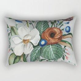 Moody Magnolia Arrangement Rectangular Pillow