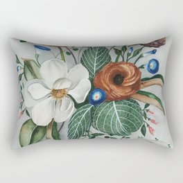 Moody Magnolia Arrangement Rectangular Pillow