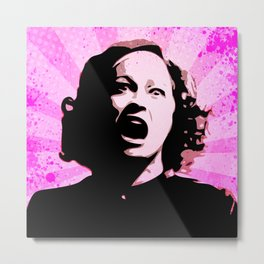 Mommie Dearest - No Wire Hangers, Ever - Pop Art Metal Print