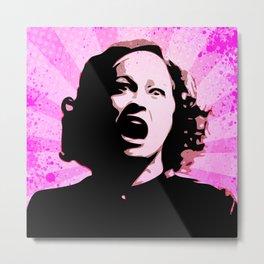 Mommie Dearest - No Wire Hangers, Ever - Pop Art Metal Print