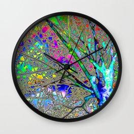 Digital Tree Neon Wall Clock