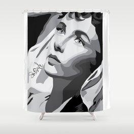 Elizabeth Taylor - Dreamy Eyes Shower Curtain