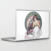 mucha Laptop & iPad Skins featuring Alfons Mucha Music by Puddingshades