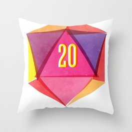 Rolling D20's Like A Big Shot  Throw Pillow