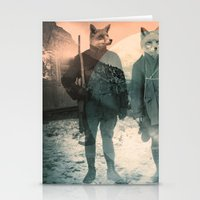 heaven Stationery Cards featuring Fox Hunt by Chase Kunz
