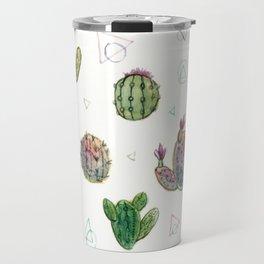 Cactus and Triangles Travel Mug
