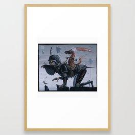 4 Riders and a Bird Framed Art Print