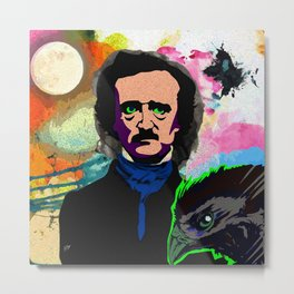 A Tribute to Edgar Allan Poe Metal Print