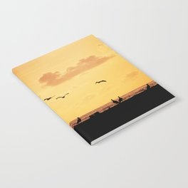 Fisherman at sunset Notebook