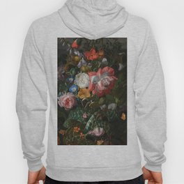 Roses, Convolvulus, Poppies, and Other Flowers, Rachel Ruysch 17th Century Hoody