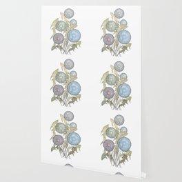 Dandelions watercolor painting Wallpaper