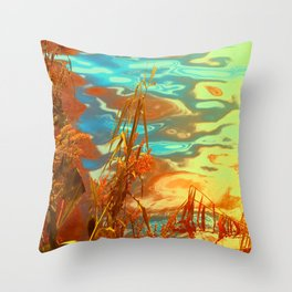 Autumn Nature Water Colors Throw Pillow