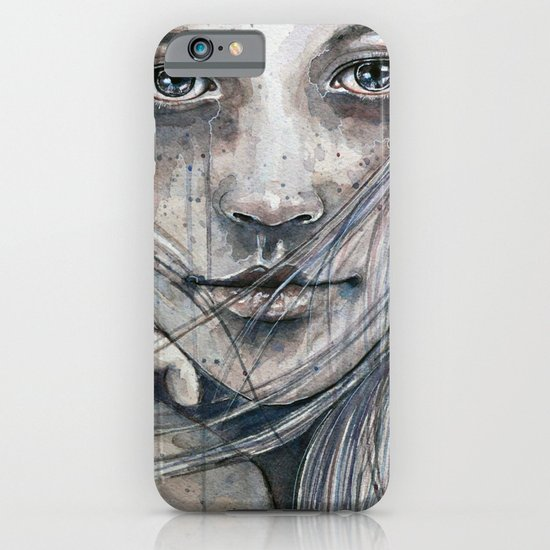 Summer dreams of winter, watercolor illustration iPhone & iPod Case