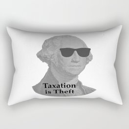 George Washington Cool Sunglasses with Taxation is Theft Rectangular Pillow