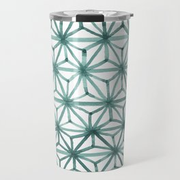 Teal Asanoha Travel Mug