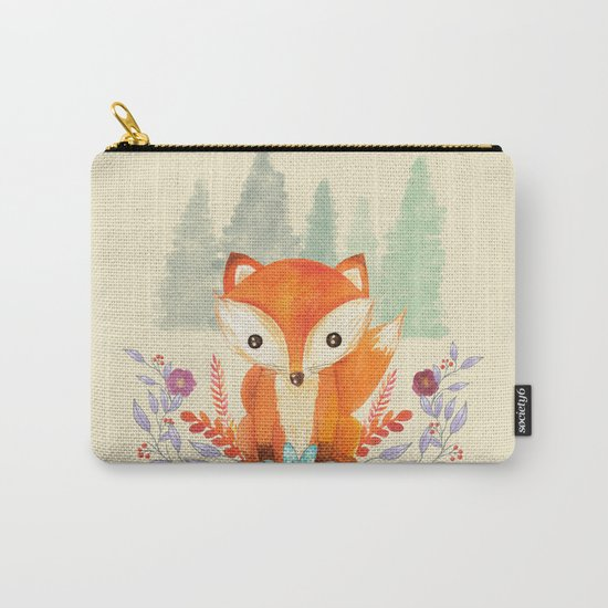 Evergreen Fox Carry-All Pouch