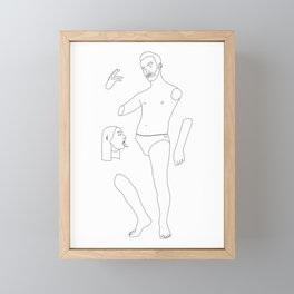 Man who wanted to f*** the whole world Framed Mini Art Print