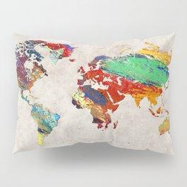 World Map 51 Pillow Sham