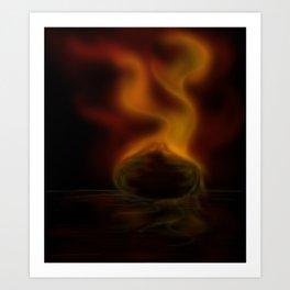Burning ember Art Print