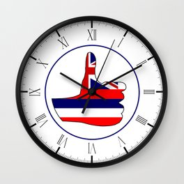 Thumbs Up Hawaii Wall Clock