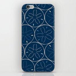 Sanddollar Pattern in Blue iPhone Skin