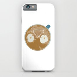 Cycling Latte Art iPhone Case