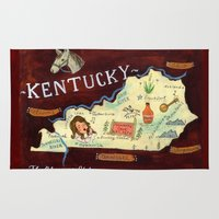 kentucky Area & Throw Rugs featuring Kentucky by Christiane Engel