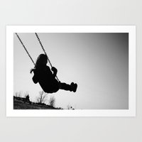 swinging life away Art Print