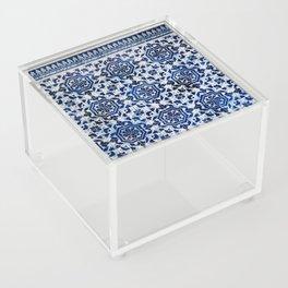 Cobalt Flourish Acrylic Box