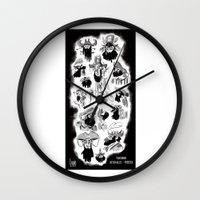 pirates Wall Clocks featuring Pirates by Louis Van Driessche