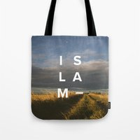 islam Tote Bags featuring Islam- Poster by Canvas Dawah