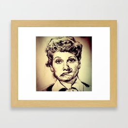 LUCILLE BALL Framed Art Print