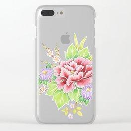 Kimono Bouquet Clear iPhone Case