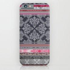 Burgundy, Pink, Navy & Grey Vintage Bohemian Wallpaper iPhone 6s Slim Case
