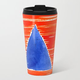 orange desert Travel Mug