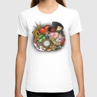 wonderland T-shirts featuring Wonderland  by Katie Simpson a.k.a. Redhead-K