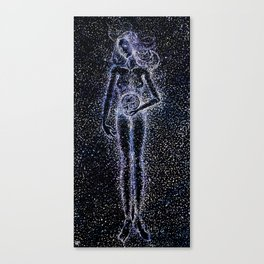 Nuit - The Starry Goddess Canvas Print