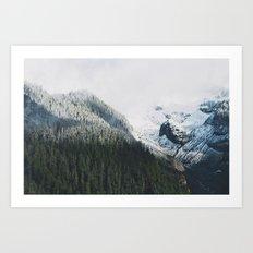 Mount Rainier Winter Valley Art Print