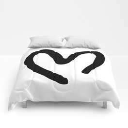 Black and White Heart Comforters